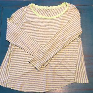 Calvin Klein Long Sleeve Open Back Top